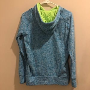 ivory ella Tops - Ivory Ella pullover hoodie blue and neon green
